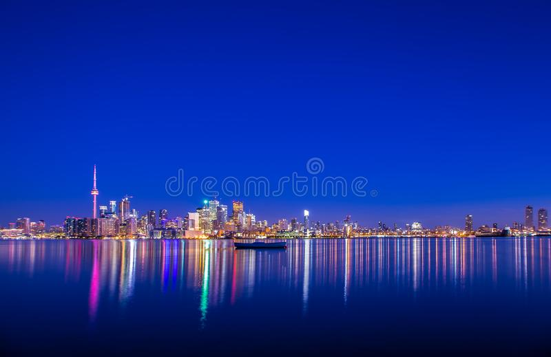 Vista stupefacente della città di Toronto Ontario Canada fotografia stock