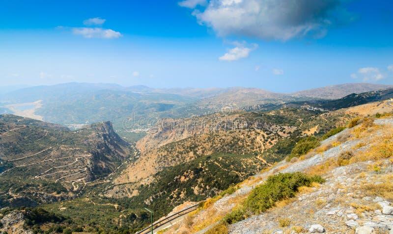 Vista stupefacente sull'isola di Creta, Grecia fotografia stock