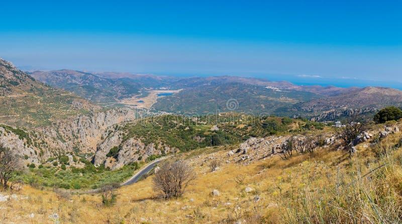 Vista stupefacente sull'isola di Creta, Grecia immagini stock