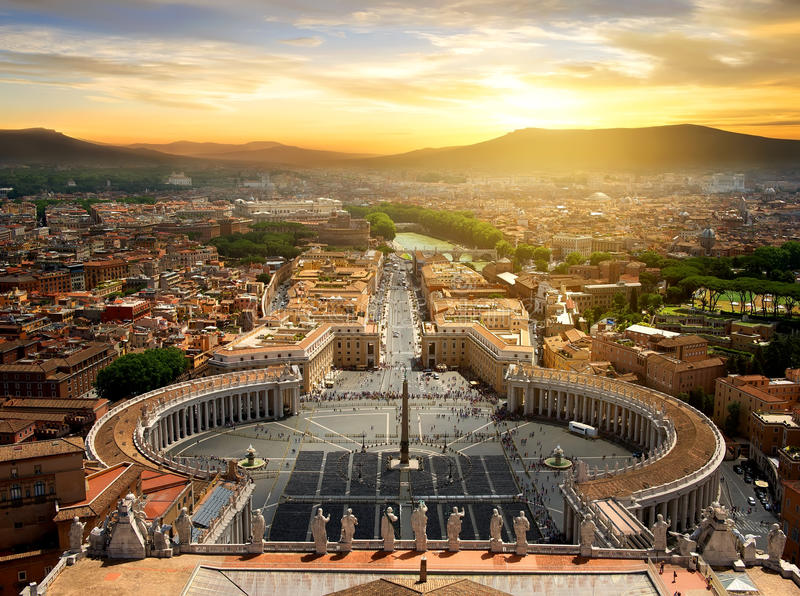 Vista su Città del Vaticano fotografie stock libere da diritti
