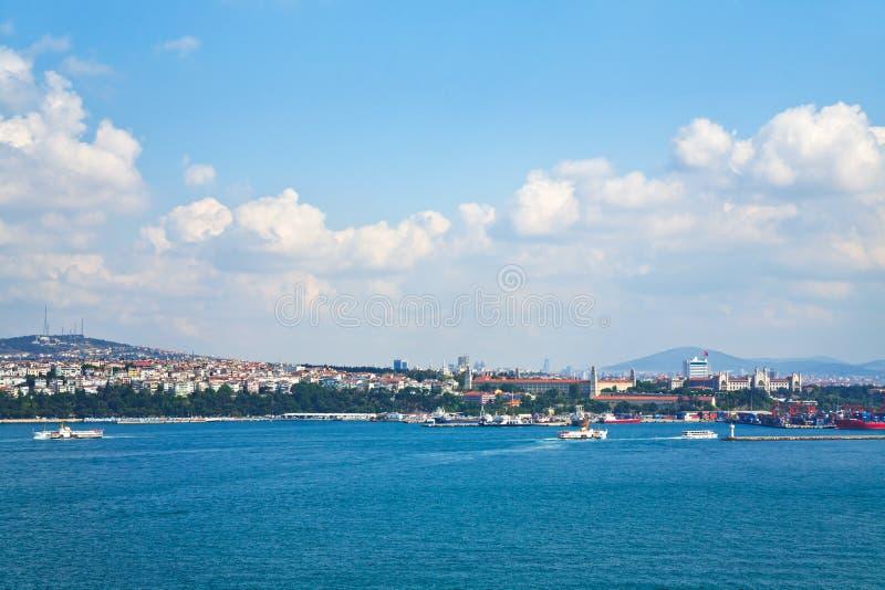Vista su Costantinopoli fotografie stock