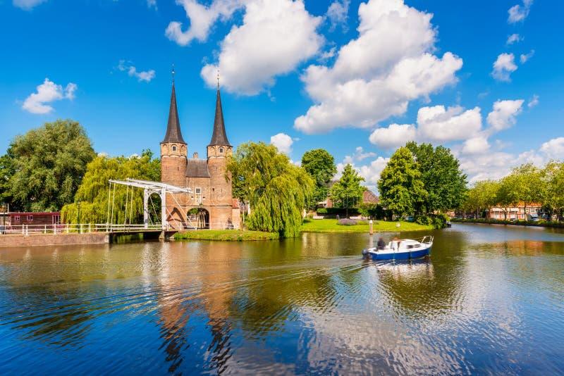 Vista su Delft Paesi Bassi fotografia stock
