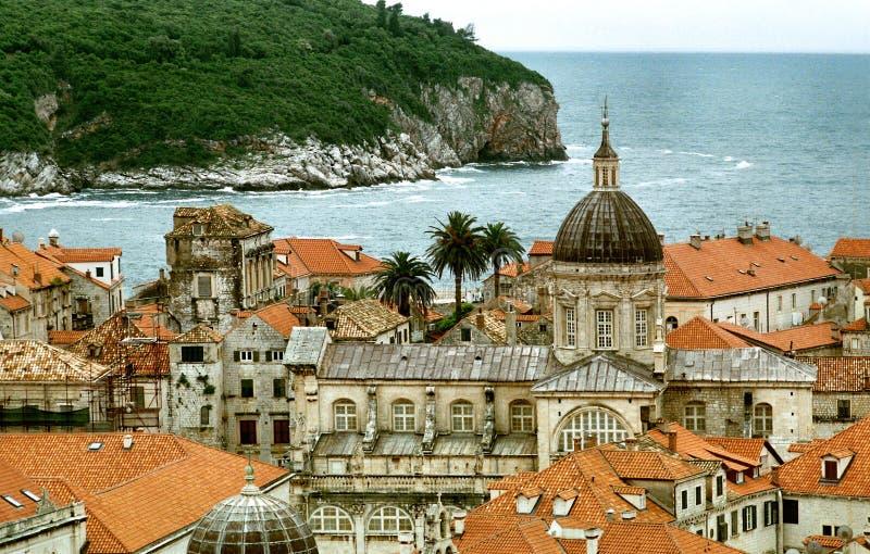 Vista su Dubrovnik immagini stock libere da diritti
