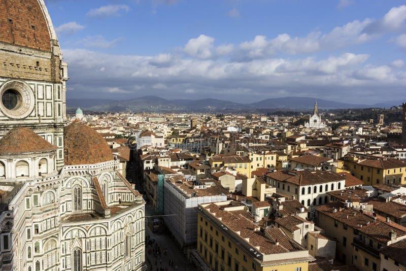 Vista su Firenze in Italia immagine stock libera da diritti