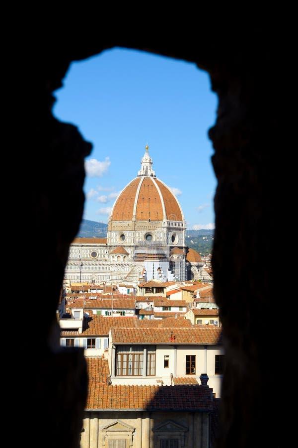 Vista su Firenze, Italia fotografie stock libere da diritti