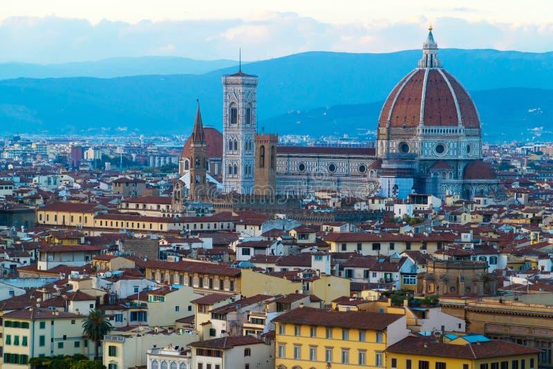 Vista su Firenze, Italia fotografia stock