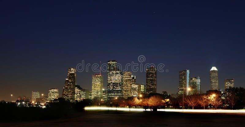 Vista su Houston del centro, il Texas fotografia stock