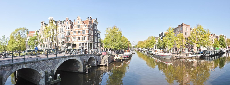 Vista su Keizersgracht nei Paesi Bassi di Amsterdam fotografie stock