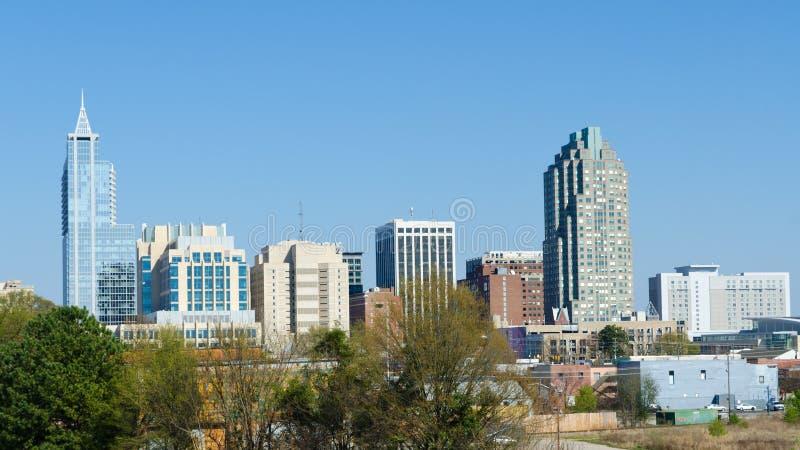 Vista su Raleigh del centro, North Carolina. U.S.A. immagine stock libera da diritti