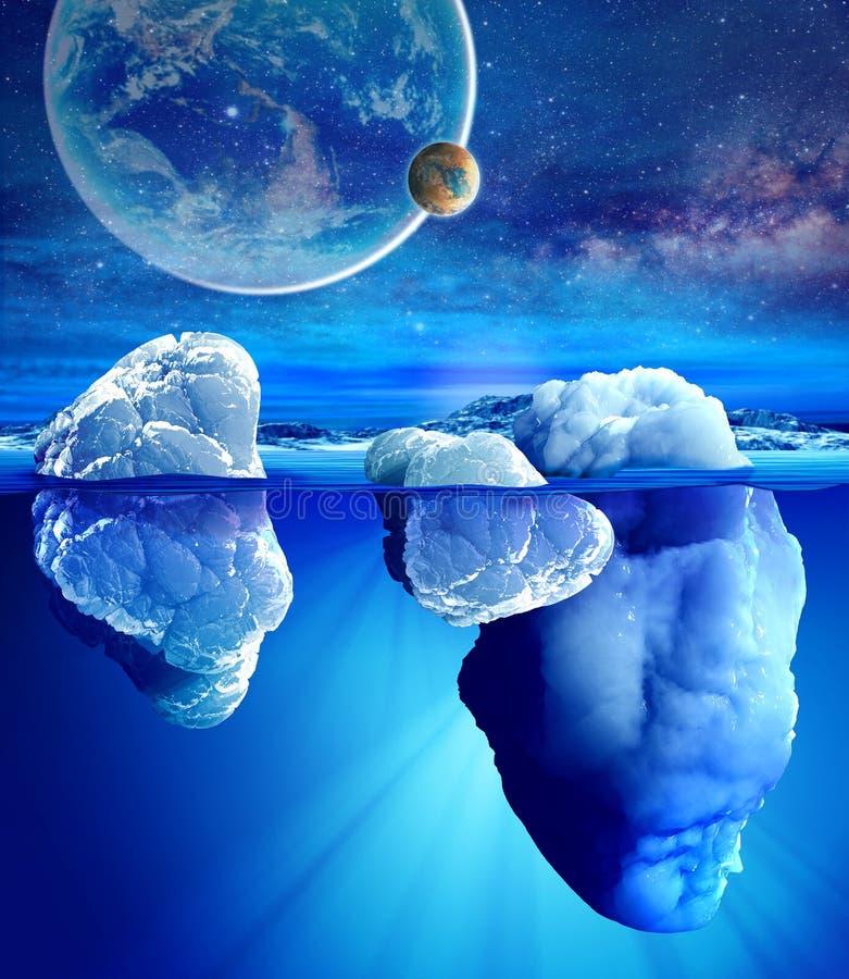 Vista subacquea dell'iceberg immagini stock