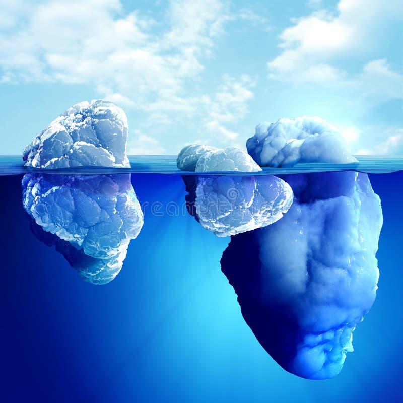 Vista subacquea dell'iceberg royalty illustrazione gratis