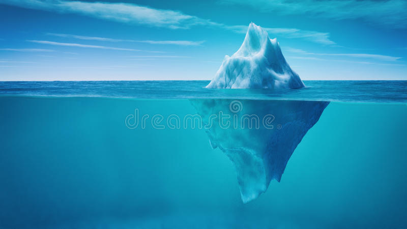Vista subacquea dell'iceberg royalty illustrazione gratis