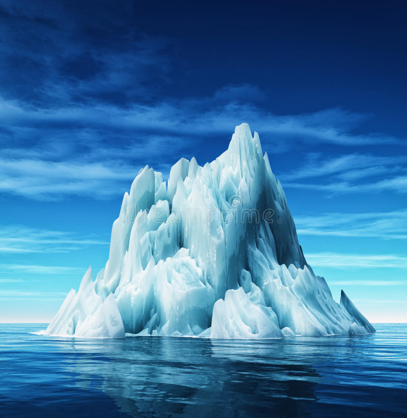 Vista subacquea dell'iceberg illustrazione di stock