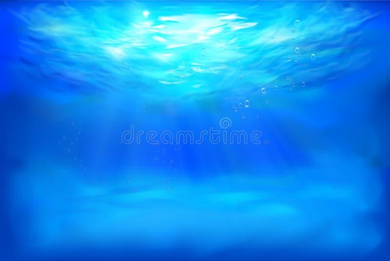 Vista subaquática abstrata Ilustração do vetor ilustração do vetor