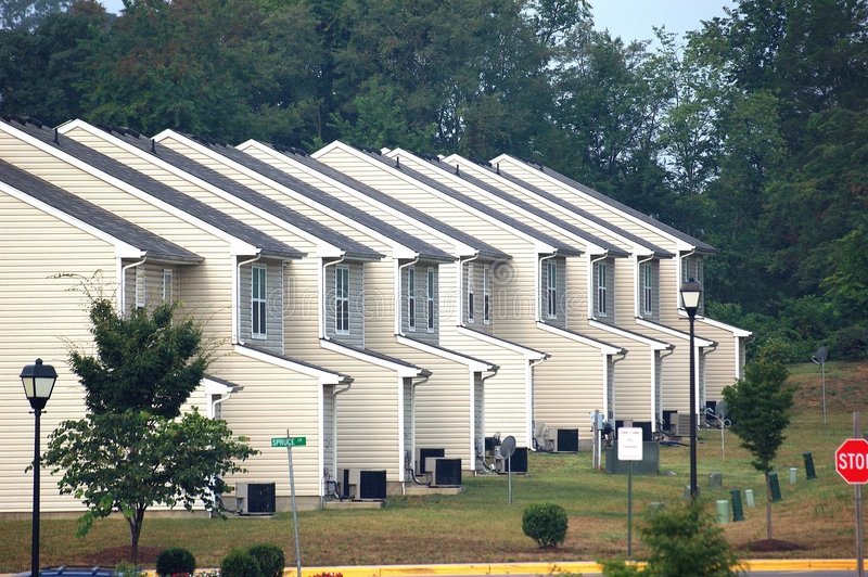 Vista suburbano immagine stock