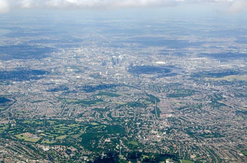 Vista sudorientale di Londra, vista aerea fotografia stock libera da diritti