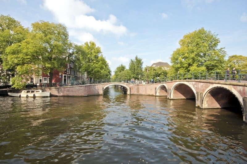 Vista sul centro città di Amsterdam nei Paesi Bassi fotografia stock libera da diritti