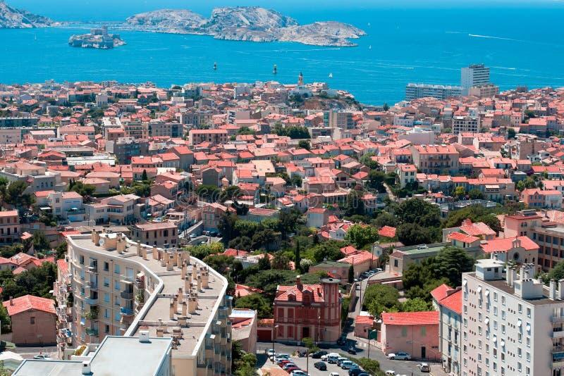 Vista sul d'If del chateau vicino a Marsiglia immagine stock