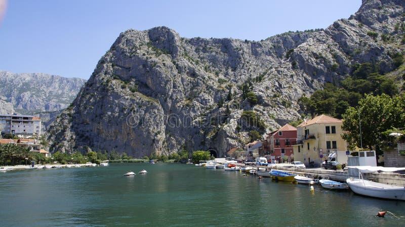 Vista sul fiume di Cetina fotografie stock libere da diritti
