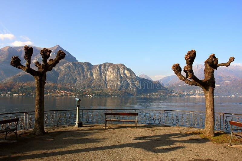 Vista sul lago Como. immagini stock libere da diritti