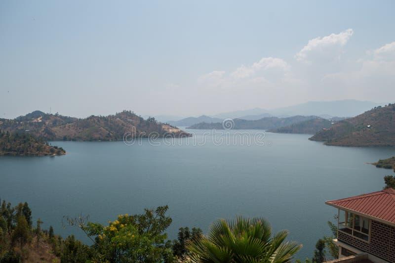 Vista sul lago Kivu, Kibuye, Ruanda fotografia stock