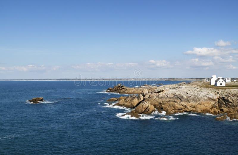 Vista sul mare (Brittany, Francia) fotografia stock