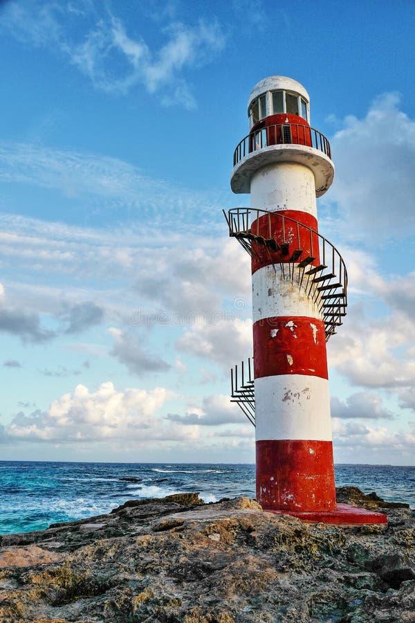 Vista sul mare in Cancun, Messico fotografia stock