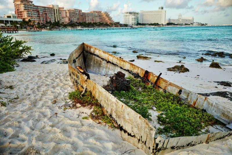 Vista sul mare in Cancun, Messico immagini stock