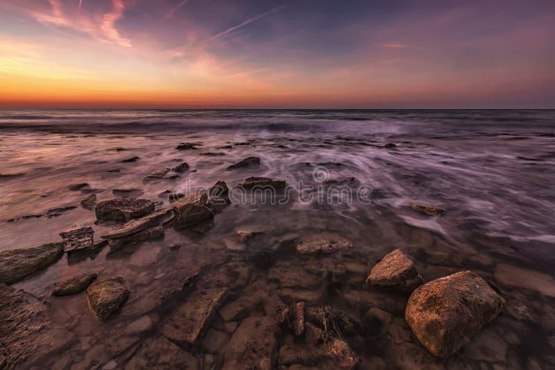 Vista sul mare che crea l'umore fotografia stock libera da diritti
