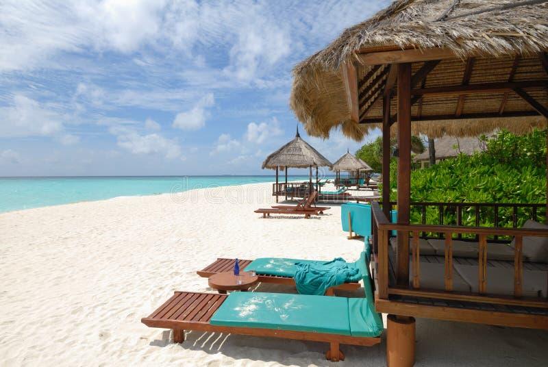 Vista sul mare dei Maldives immagine stock libera da diritti