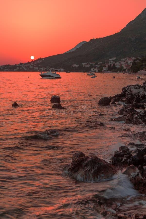 Vista sul mare dell'Adriatico immagine stock