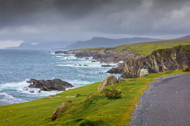 Vista sul mare dell'isola di Achill fotografie stock