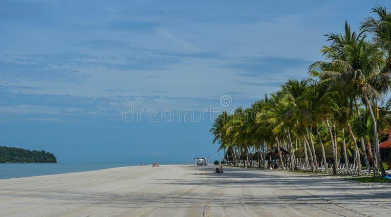 Vista sul mare dell'isola di Langkawi, Malesia fotografia stock libera da diritti
