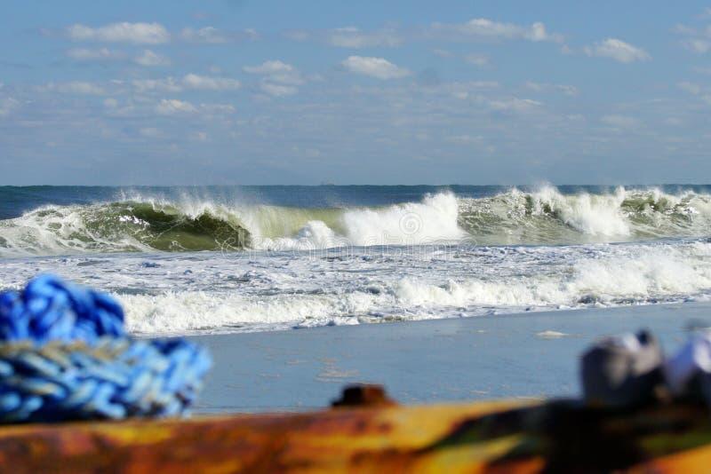 Vista sul mare di Magnificant delle spiagge della Nord Carolina immagine stock libera da diritti