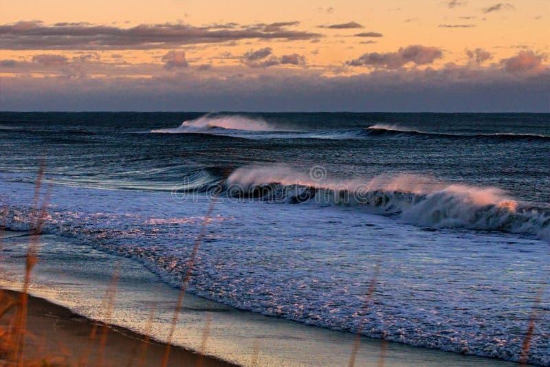Vista sul mare di Magnificant delle spiagge della Nord Carolina fotografie stock