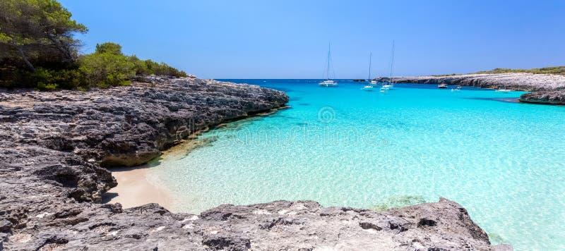 Vista sul mare di Menorca fotografie stock libere da diritti