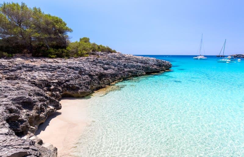 Vista sul mare di Menorca fotografie stock