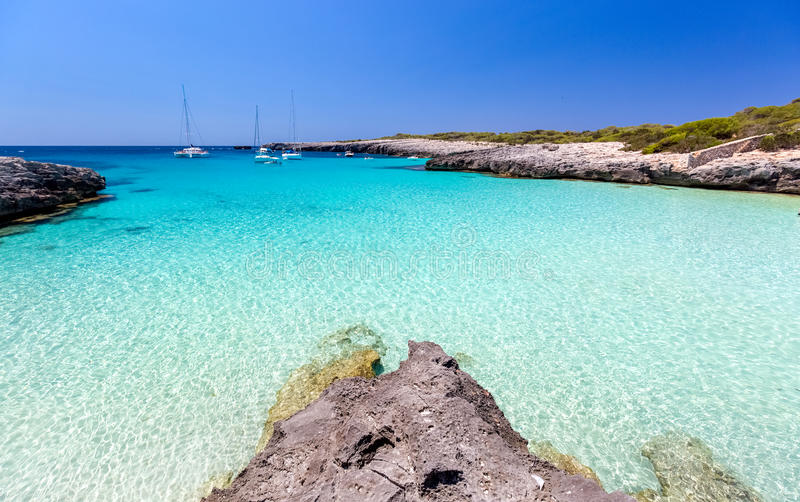 Vista sul mare di Menorca fotografia stock libera da diritti