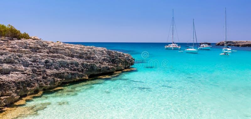 Vista sul mare di Menorca immagini stock libere da diritti