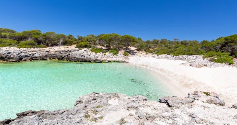 Vista sul mare di Menorca fotografia stock