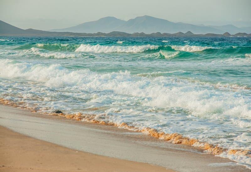 Vista sul mare di paradiso della spiaggia immagine stock libera da diritti