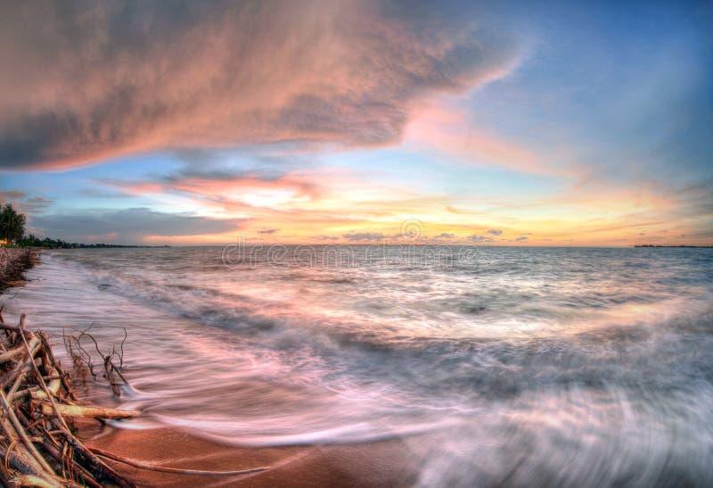 Vista sul mare a Fannie Bay, Territorio del Nord, Australia fotografia stock