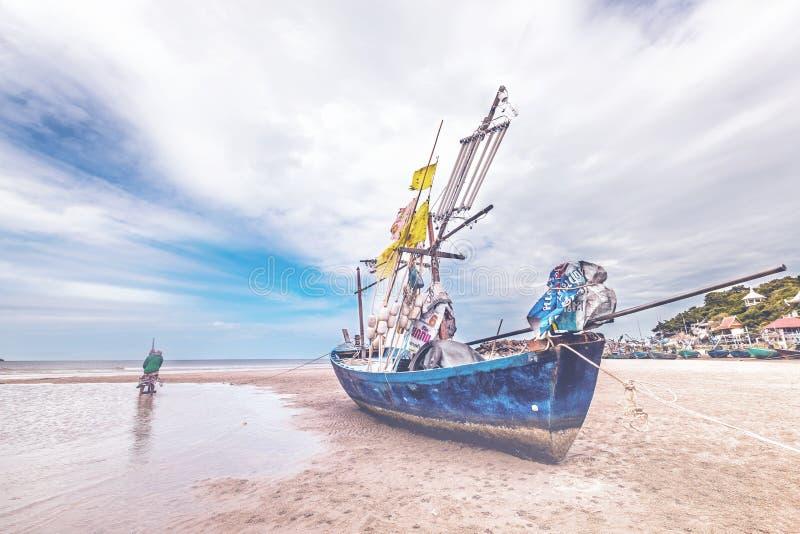 Vista sul mare in Huahin, immagine stock libera da diritti