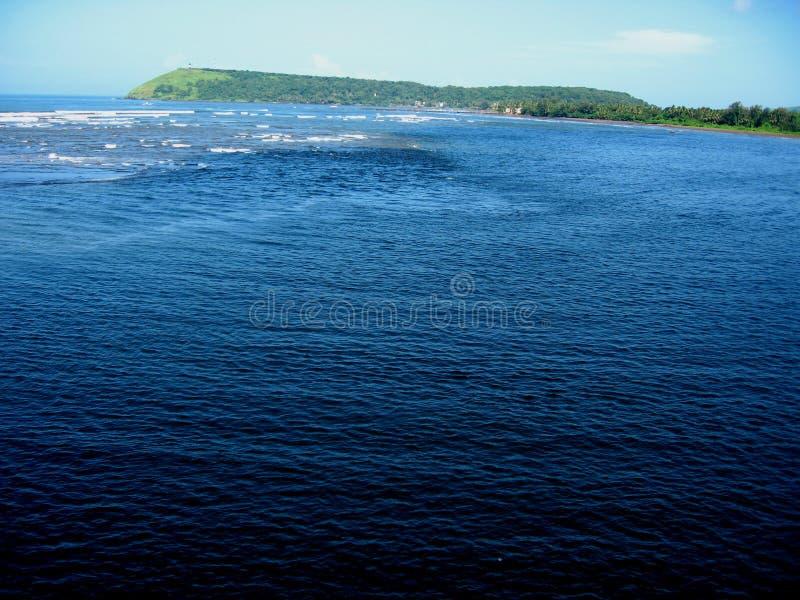Vista sul mare-II di Ratnagiri immagine stock