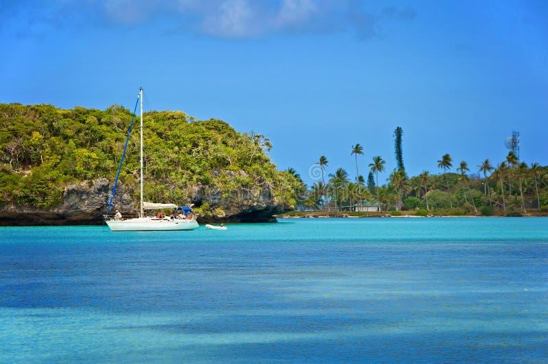 Vista sul mare, isola dei pini, Nuova Caledonia fotografia stock libera da diritti