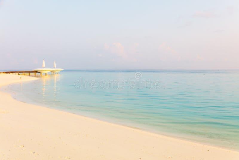 Vista sul mare pacifica di mattina immagini stock libere da diritti