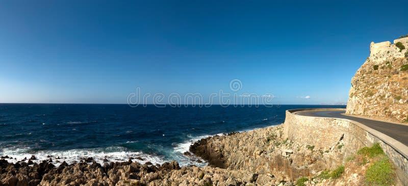 Vista sul mare panoramica fotografia stock