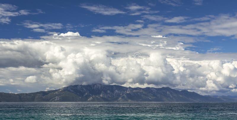 Vista sul mare panoramica della Croazia immagini stock libere da diritti