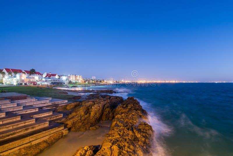 Vista sul mare Sudafrica di Port Elizabeth immagine stock