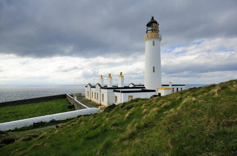 A vista sul, Mull do farol de Galloway imagens de stock royalty free
